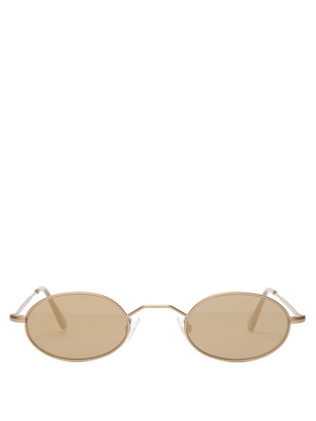 ANDY WOLF Armstrong oval-frame sunglasses in gold