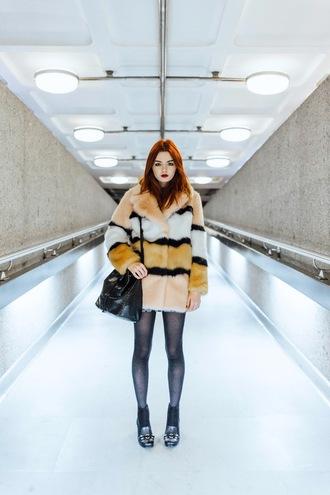 hannah louise fashion blogger winter coat faux fur coat