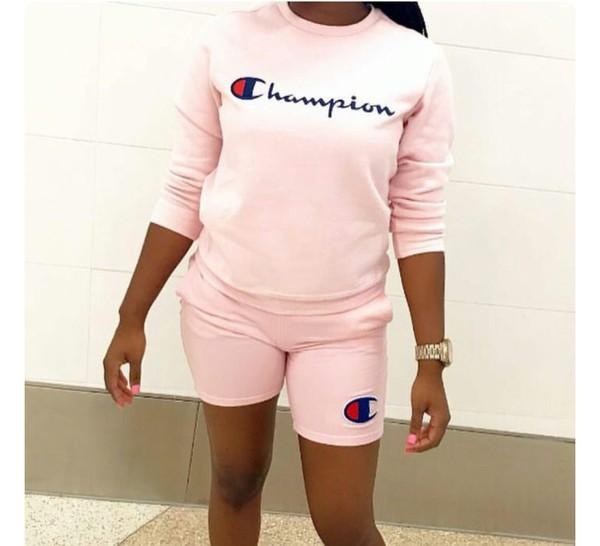 826727c9 Champion Script Neon Pink Long Sleeve T-Shirt | Zumiez