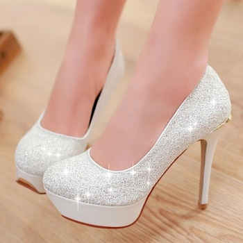 Free shipping new 2014 women's pumps sexy ladies' red sole12cm classic party stiletto high heels shoes white,blue