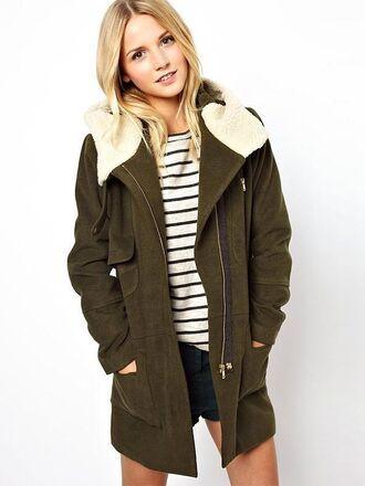 army green cotton women's coats warm warm winter coats