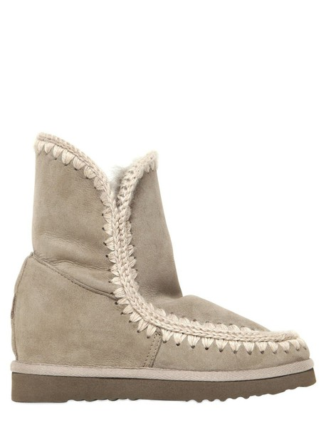 wedge boots short boots taupe shoes