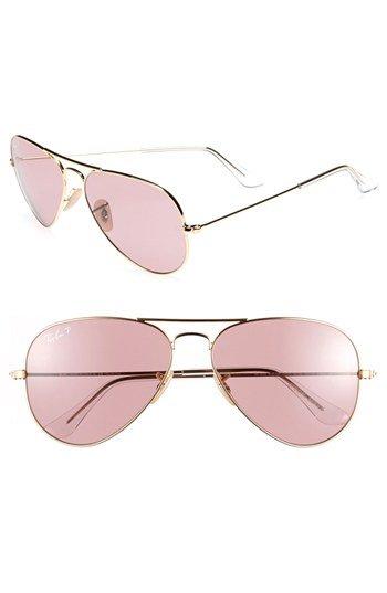 00f6b69442 Ray-Ban  Original Aviator  58mm Polarized Sunglasses