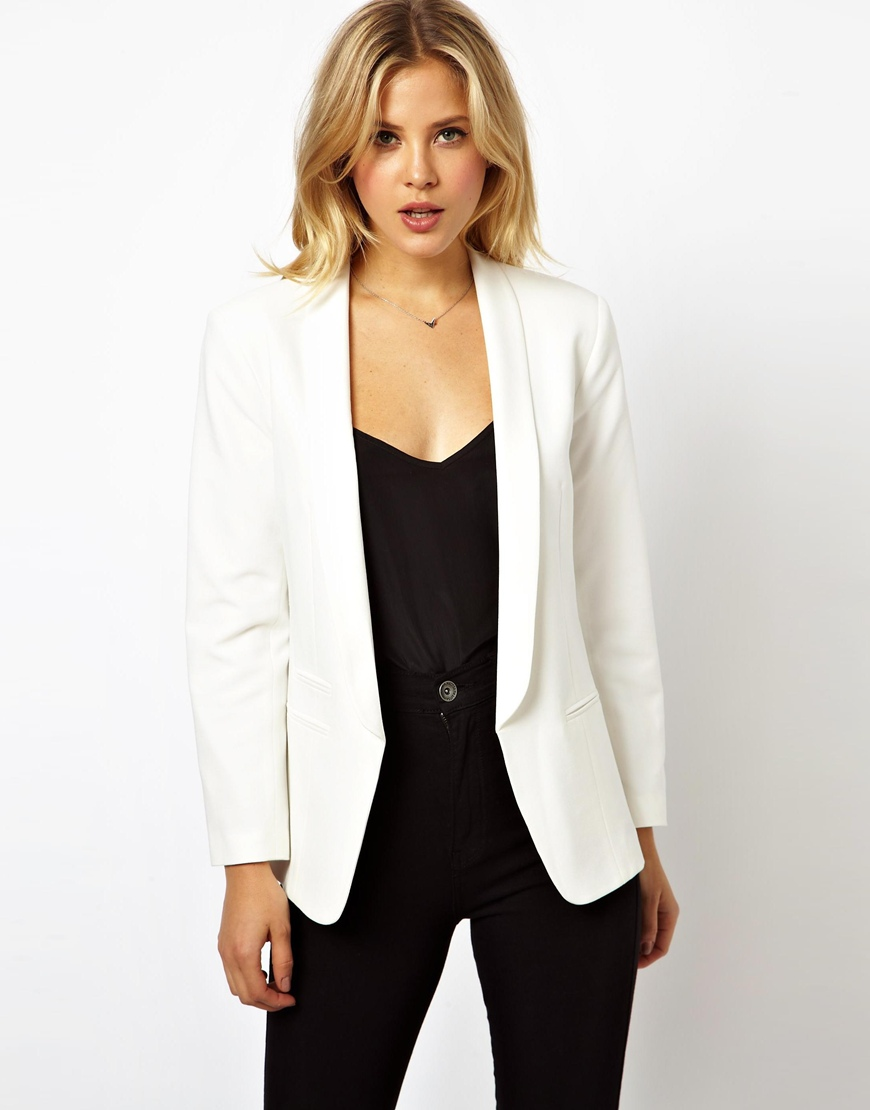 ASOS Blazer in Crepe with Slim Lapel at asos.com