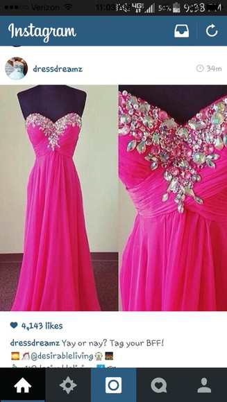 sparkly pink with jewls fashion prom dress cute dress sparkles