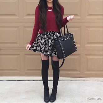 skirt photography cute style autumn casual girly sweater