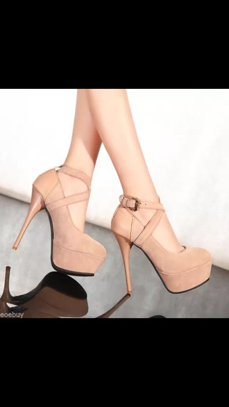 shoes beige cheap heels high heels ankle strap heels beige shoes