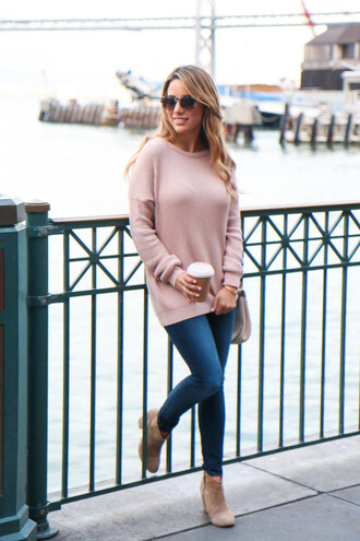 fashionborn blogger pink sweater