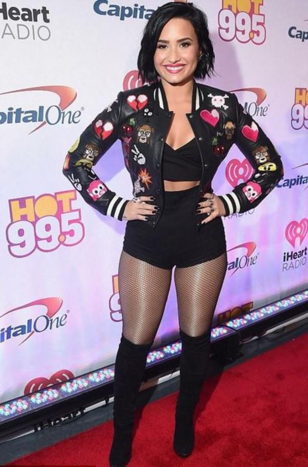 Demi Lovato Boots August 2017