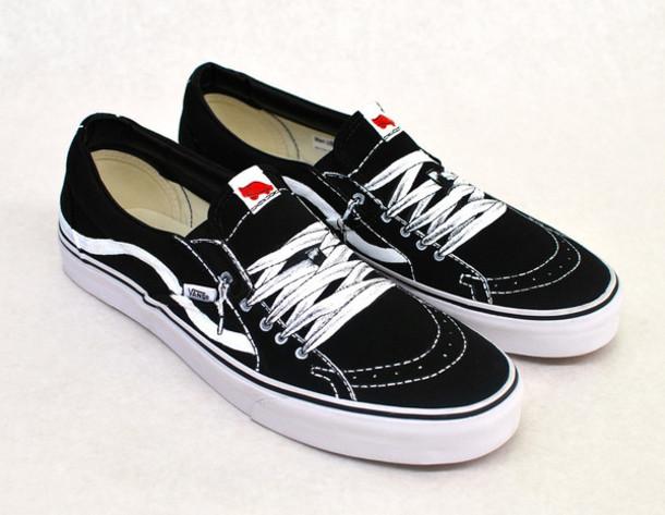 shoes black black vans vans sneakers black and white
