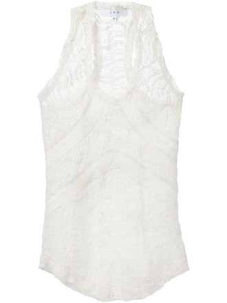 back lace white top