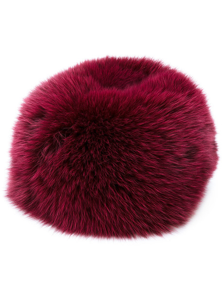 Daniela Pancheri fur fox women hat fur hat red