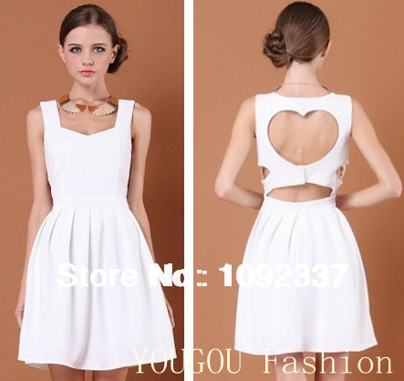 On Sale 2014 New Fashion Summer Lady Dresses Sexy Heart Open Back Evening Party Slim Women's Dress Quality Brand 3 Colors LP79-in Dresses from Apparel & Accessories on Aliexpress.com