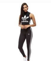 black,adidas,top