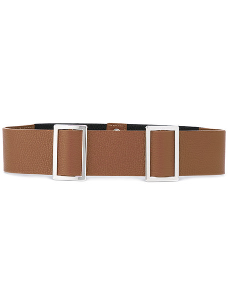 double buckle belt belt brown