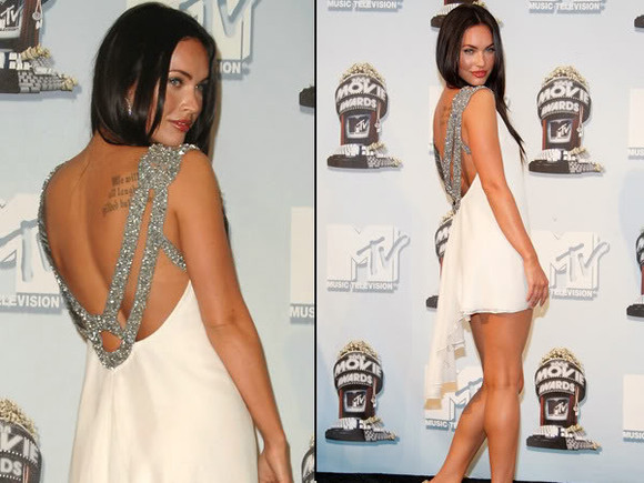 dress megan fox white