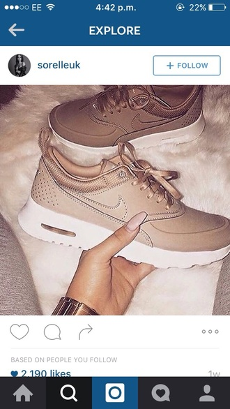 shoes nike beige nude trainers