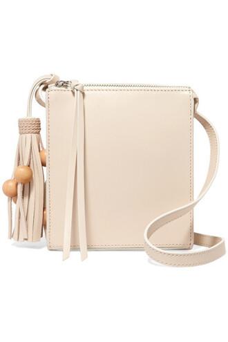 bag shoulder bag leather cream