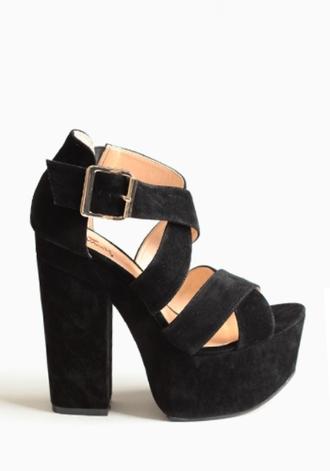 shoes shoes black wedges high heels gold black shoes black