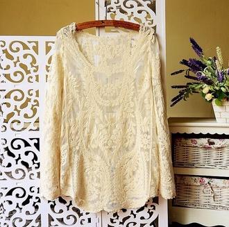 blouse net off-white