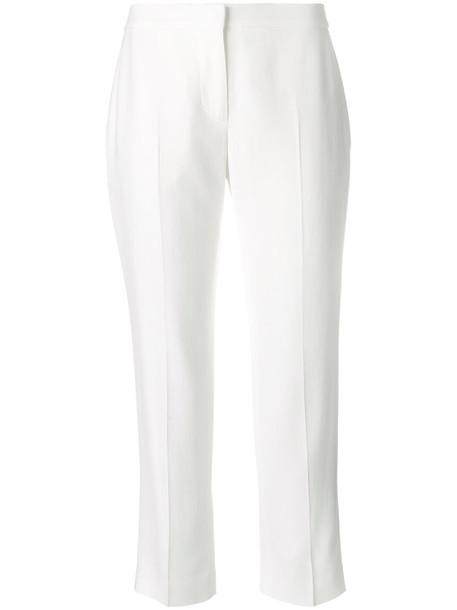 Alexander Mcqueen cropped women white pants