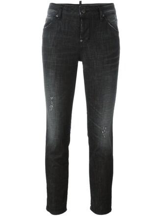 jeans skinny jeans cropped black