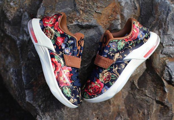 shoes multicolor flowers kds