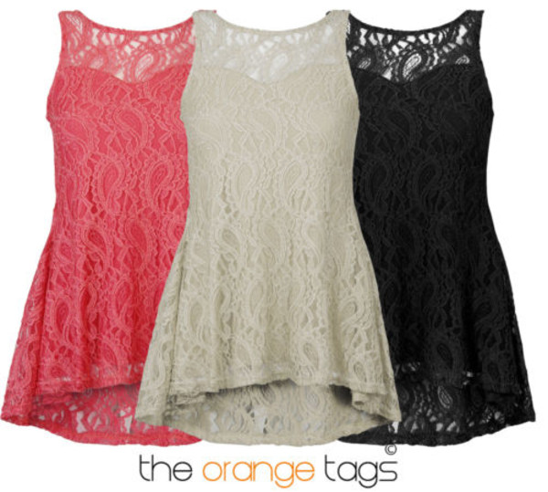 tank top fishtail sleeveless skater dress lace top top peplum top paisley cream coral black sexy casual trendy hipster cute girly floral high-low dresses