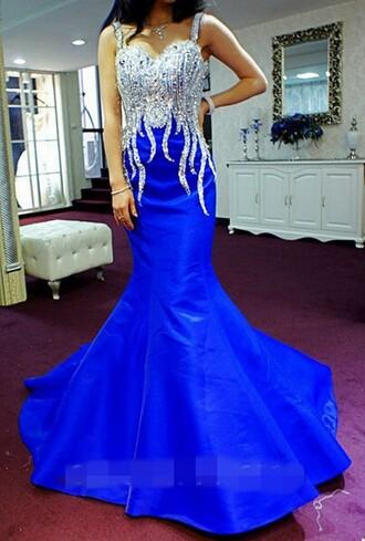 dress mermaid prom dress royal blue prom dress prom dresses 2015 prom dress