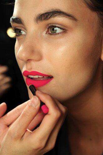 make-up lipstick beautiful model pink matte matte lipstick vintage retro tumblr perfect