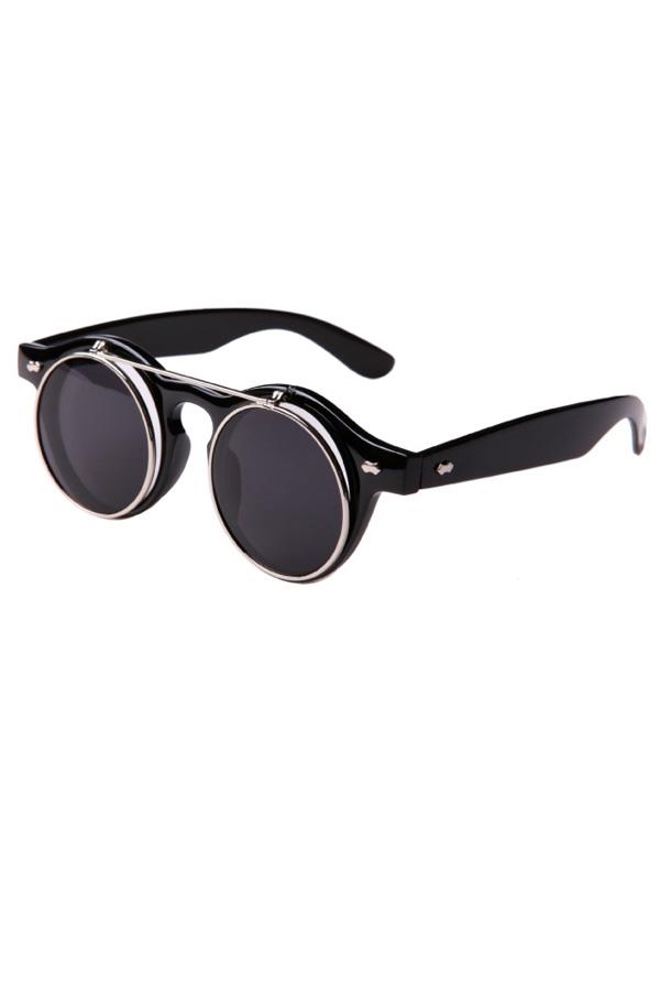 Vintage Dual Layer Flip Sunglasses - OASAP.com