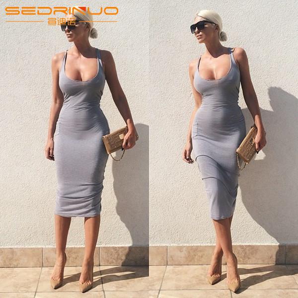 Women S Sexy Tank Top Low Cut Nightclub Dress Bag Sexy Hip