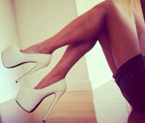 shoes high heels white heels stilettos