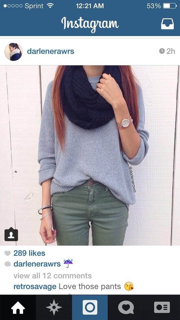 jeans scarf jewels shirt