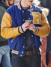 jacket,blue and yellow