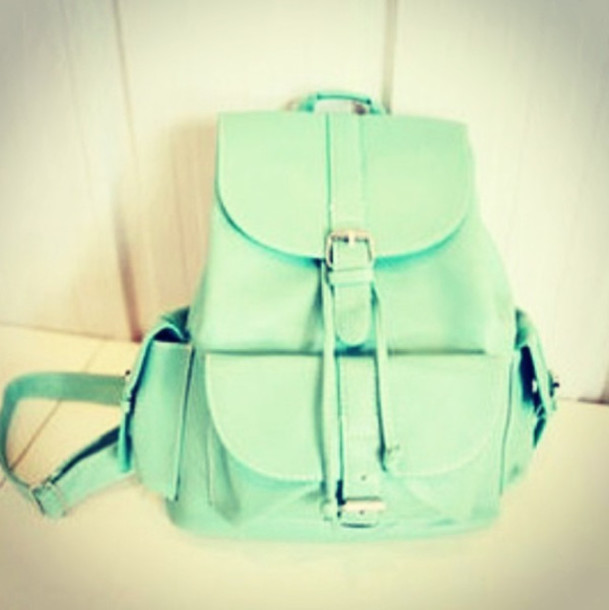 bag light blue mint green bag