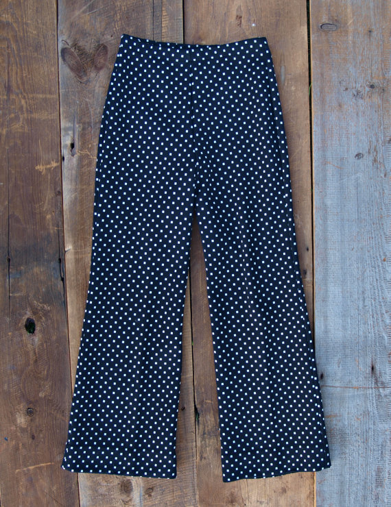 Black and White Pants / Checkered Pants / by littleedenvintage