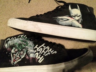 shoes black batman joker converse