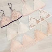 underwear,bralette,lace bralette,ootd,fashion,lace bra,bra,style,top,crop tops,mesh bra,white bralette,pastel bralette,lingerie,sexy lingerie,pastel pink,lace lingerie