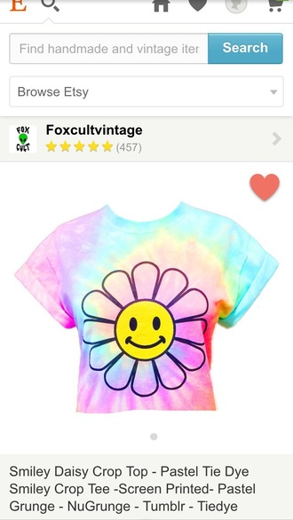shirt tie dye daisy