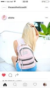 bag,pink,backpack,back to school,summer