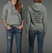sweater,harry potter,grey sweater,top,harry potter sweater,sweatshirt