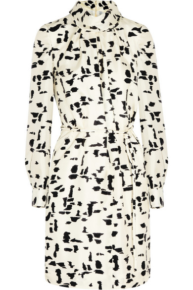 Chloé | Printed silk-twill dress | NET-A-PORTER.COM