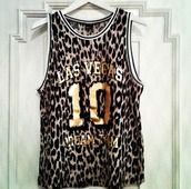 shirt,las vegas,vest,leopard print,t-shirt,gold,number,university,dream,sportswear,sporty,clothes,tank top