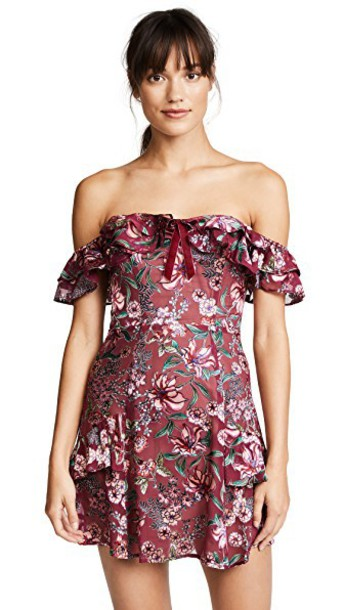 For Love & Lemons dress mini dress mini floral