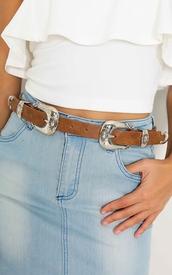 belt,boho chic,two metal buckles,belt with two metal buckles,waist belt,metal belt,metal and leather belt,showpo,47301