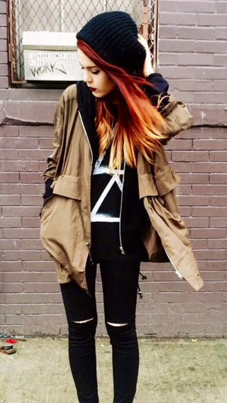 jacket indie alternative urban outfitters hipster jeans le happy blogger