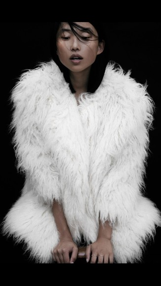 ivory fur jacket fall 2014 fur coat faux fur jacket sheep coat winter coat