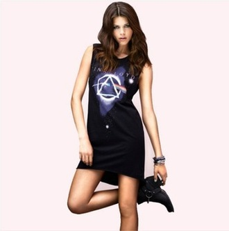 dress summer dress casual dress sleeveless loose dress vest dress rock