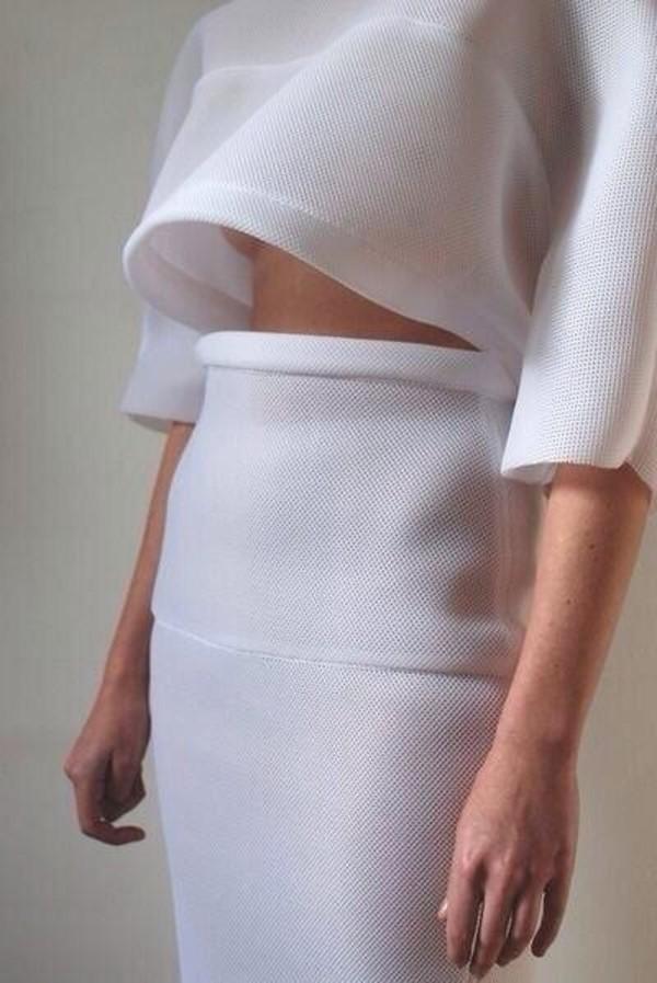 t-shirt white crop tops mesh clean quality miley cyrus matching set skirt shirt white t-shirt white skirt fashion tumblr tumblr clothes